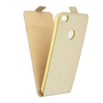 Калъф тип Flip за Huawei P8 Lite/P9 lite (2017) златен