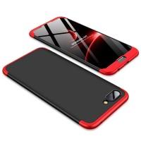 Калъф твърд кейс 360 за Huawei Honor 10 , черен с червена рамка