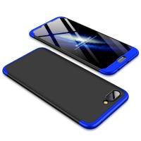 Калъф твърд кейс 360 за Huawei Honor 10 , черен със синя рамка