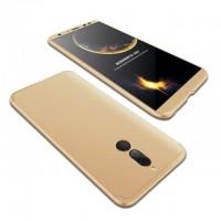 Калъф твърд кейс 360 за Huawei Mate 10 lite ,златен