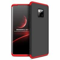 Калъф твърд кейс 360 за Huawei Mate 20 Pro,черен с червена рамка
