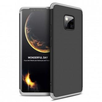 Калъф твърд кейс 360 за Huawei Mate 20 Pro,черен със сива рамка