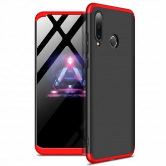 Калъф твърд кейс 360 за Huawei P30 Lite ,черно-червен
