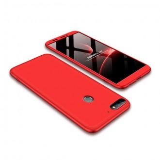 Калъф твърд кейс 360 за Huawei Y7 2018 / Y7 Prime 2018 ,червен