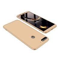 Калъф твърд кейс 360 за Huawei Y7 2018 / Y7 Prime 2018 , златен