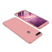 Калъф твърд кейс 360 за Huawei Y7 2018 / Y7 Prime 2018 , розов