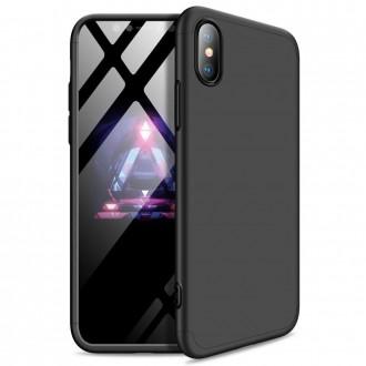 Калъф твърд кейс 360 за iPhone XS Max, черен