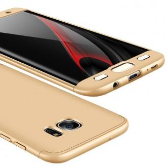 Калъф твърд кейс 360 за Samsung G935 S7 Edge ,златен
