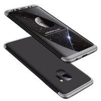Калъф твърд кейс 360 за Samsung G960 S9 , черен със сива рамка
