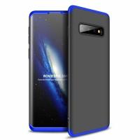 Калъф твърд кейс 360 за Samsung Galaxy S10, черно-син