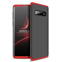 Калъф твърд кейс 360 за Samsung Galaxy S10 Plus, черно-червено