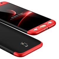 Калъф твърд кейс 360 за Samsung J530 J5 2017,черно-червен