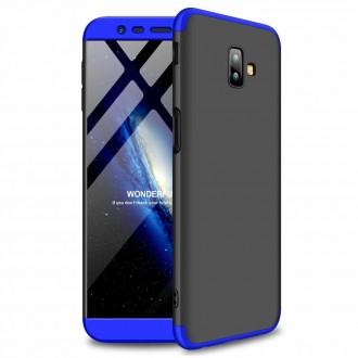 Калъф твърд кейс 360 за Samsung J610 J6 Plus,черен със синя рамка