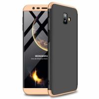 Калъф твърд кейс 360 за Samsung J610 J6 Plus,черен със златна рамка