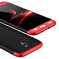 Калъф твърд кейс 360 за Samsung J730 J7 2017,черно-червен