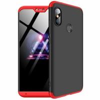 Калъф твърд кейс 360 за Xiaomi Mi A2 Lite ,черно-червен