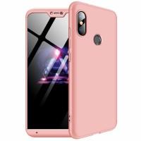 Калъф твърд кейс 360 за Xiaomi Mi A2 Lite ,розов