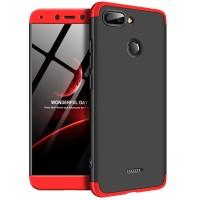 Калъф твърд кейс 360 за Xiaomi Redmi 6 черен-червен