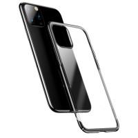 Калъф твърд кейс Baseus Glitter Electroplating Cover за iPhone 11, прозрачен с черен кант