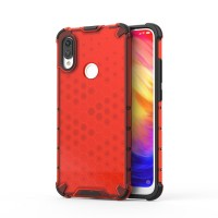 Калъф твърд кейс Honeycomb Armor with TPU Bumper за Xiaomi Redmi Note 7, червен