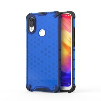 Калъф твърд кейс Honeycomb Armor with TPU Bumper за Xiaomi Redmi Note 7, син