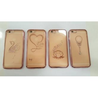 Силикон за Iphone 6/6S с лайсна с камъни