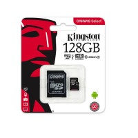 Карта памет Kingston microSDHC 128 GB, UHS-I, class 10 с преходник