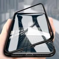 Магнитен калъф кейс 2 части Wozinsky за iPhone XS / X черен-прозрачен