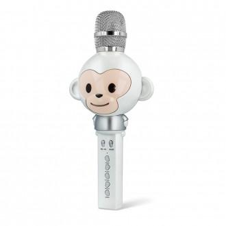 Микрофон Forever Animal с bluetooth говорител , AMS-100 , бял