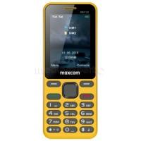 Мобилен телефон MaxCom MM139, Dual SIM, жълт