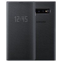 Оригинален калъф LED View Cover (EF-NG973PBEGWW) за Samsung S10 , черен