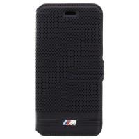 Оригинален калъф страничен тефтер за iPhone 6 / 6S BMW BMFLBKP6MPEBIC черен