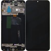 Оригинален LCD Дисплей Super AMOLED за Samsung A105 (A10), черен