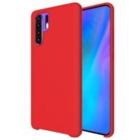 Оригинален силиконов кейс Silicone Case за Huawei P30 Pro , Червен