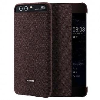 Оригинален страничен калъф тип тефтер Smart View Cover за Huawei P10 , кафяв