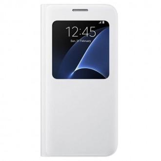 Оригинален страничен калъф тип тефтер за Samsung G930 S7 EF-CG930PWEGWW бял