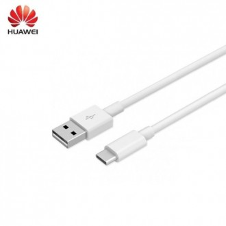 Оригинален USB кабел HUAWEI AP51 LX1289 Type C 1m бял
