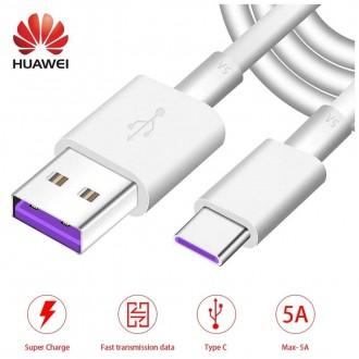 Оригинален USB кабел HUAWEI AP71 HD1289 Type C 1m бял