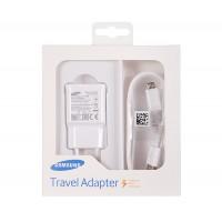 Оригинално зарядно 220V Samsung EP-TA20EWEU Fast Charge Micro USB 2A бяло