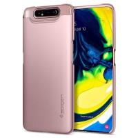 Пластмасов калъф кейс Spigen Thin Fit за Samsung A80 / A90 ,розов
