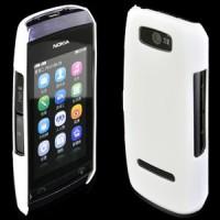 Твърд гръб за Nokia Asha 306 бял