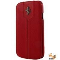 Ferrari Montecarlo Series Book-Flip-Case Galaxy S4 mini червен