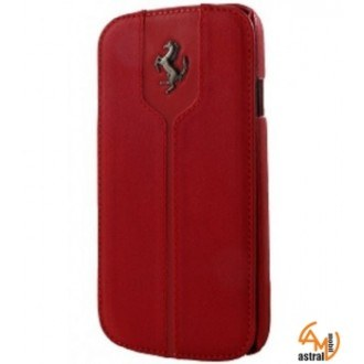 Ferrari Montecarlo Series Book-Flip-Case Galaxy S4 mini червен