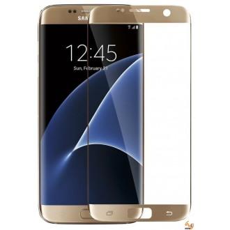 Стъклен протектор за дисплея за Samsung Galaxy S7 златен