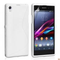 Силиконов калъф за Sony Xperia Z1 бял