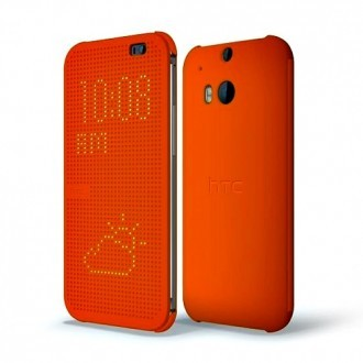 HTC Case Dot Flip HC M100 for HTC One M8 orange