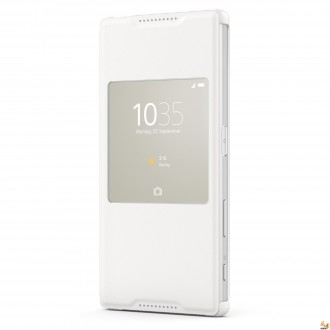 Sony Flip Case Smart Style Cover SCR42 for Xperia Z5 silver-white