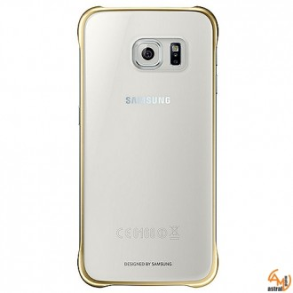 Samsung Clear Cover EF-QG920BF за Galaxy S6 gold