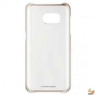Samsung Clear Cover EF-QG930CF за Galaxy S7 gold