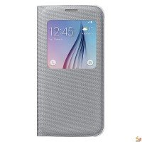 Samsung Cover S-View EF-CG920BB for Galaxy S6 сив